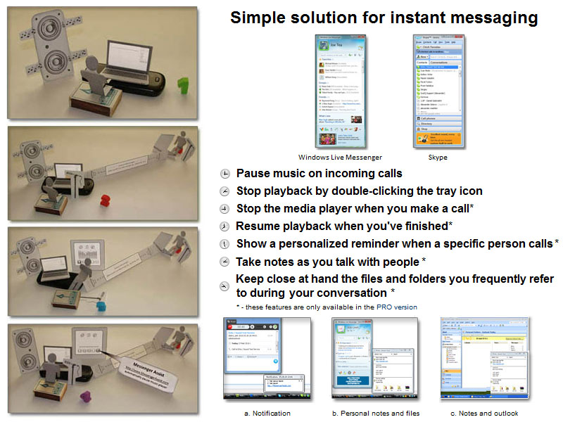 Simple solution to make instant messaging via Skype or MSN much more comfortable